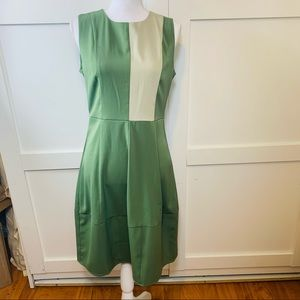 Asymmetrical Dress with the block pattern